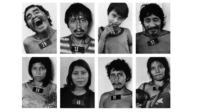 Fotografias realizadas pela artista entre 1970 e 2010 na Amazônia, com o povo indígena Yanomami.