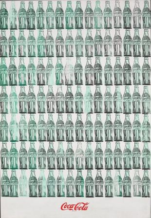 """Green Coca Cola Bottles"", 1962."